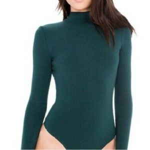 American Apparel Bodysuit Forest Green